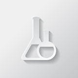 Medical flack, chemical eequipment web icon