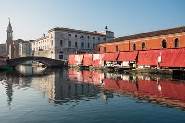 veduta di chioggia venezia 1332