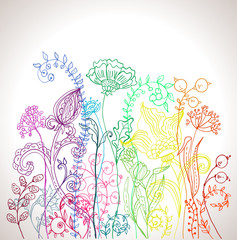 Romantic colorful flower background