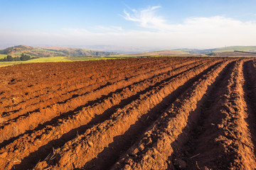 Agriculture Farming Plowed Fields