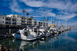 Boat Harbor in California..