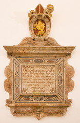 Bratislava - Baroque epitaph from year 1636 in cathedral