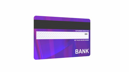Credit card spin on white background