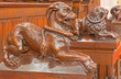 Bratislava - Dog symbolic carved sculpture in cathedral