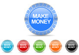 make money vector icon set