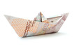Pound money paper boat