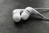 White earphones