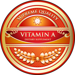 Vitamin A Supreme Quality Label