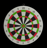 darts on a black background