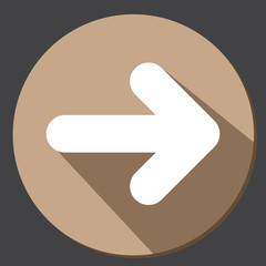 Arrow icon button flat