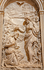 Milan - Baptism of Christ relief in  San Alesandro church