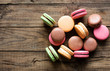 Traditional french desert macaroons