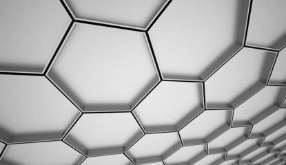 Orange hexagonal cell background