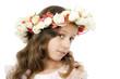 Beautiful little girl with wreath