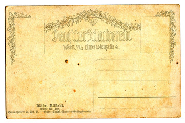 old empty postcard
