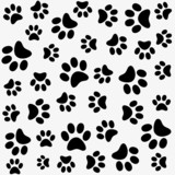 Seamless animal pattern of paw footprint