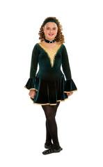 Celtic Dancer in Green Costume