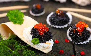 Kaviar auf dem Buffet