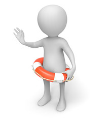 Throw rescue attempt lifebuoy