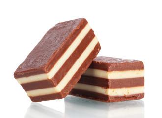 Сhocolate candy isolated on white