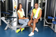 Guy and girl at gym