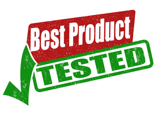 Best product, tested stamp