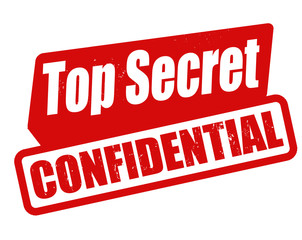Top secret confidential stamp