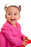 Cute little african american baby girl- Black people