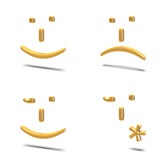 Emoticons isolate su bianco