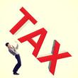 Small businessman afraid of big taxes.