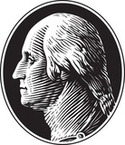 George Washington Portrait Vintage Gravure Style