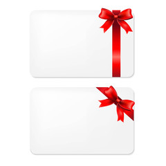 Red Bow And Blank Gift Tags