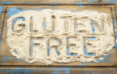 gluten free words in flour
