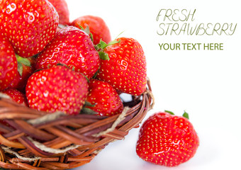 Beautiful fresh Strawberry tasty aroma