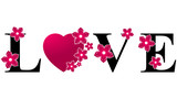 Love Heart - Pink & Black