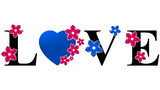 Love Heart - Pink & Blue