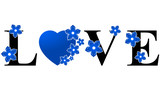 Love Heart - Blue & Black
