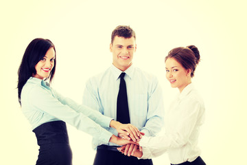 Business team cooperation