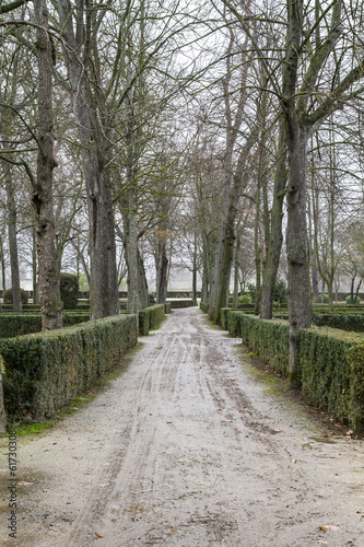 beautiful gardens Palace of Aranjuez, Madrid, Spain