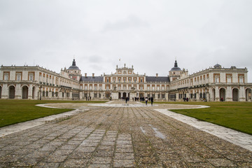 Palace of Aranjuez, Madrid, Spain, is one of the residences of t