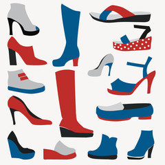 Color Icons - Shoes - Illustration