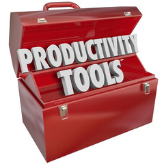 Productivity Tools Words Toolbox Efficient Working Skills Knowle