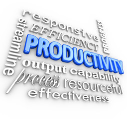 Productivity Efficiency Streamlined Process Effective Word Colla