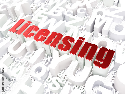 Law concept: Licensing on alphabet background