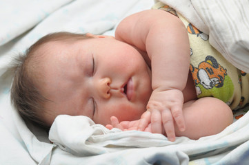 Newborn baby with allergic