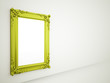 Green mirror frame old concept