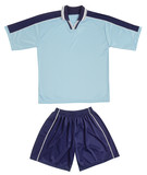 Blue sports uniform