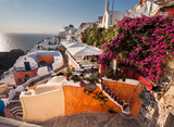 A beautiful sunset in Oia, Santorini