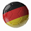 Soccer ball. Flag of Germany