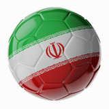 Soccer ball. Flag of Iran